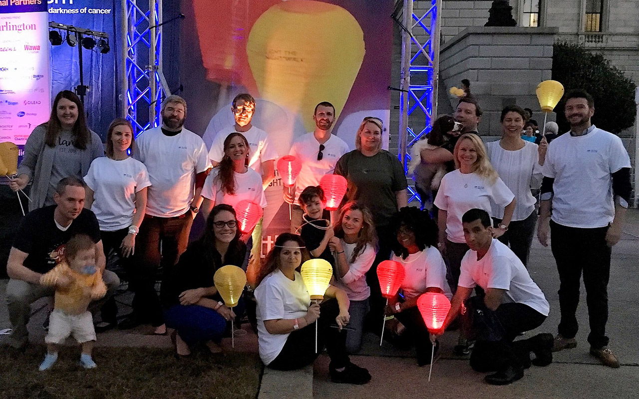 Columbia Team Members Participate in Leukemia and Lymphoma Society's Light the Night