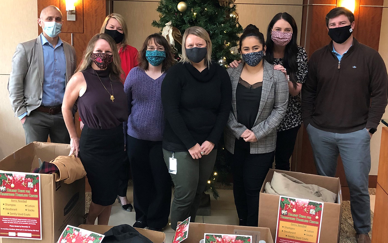 Columbia Team Leads Holiday Drive for Transitions Homeless Center